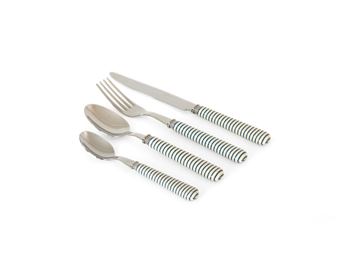 Salcombe cutlery navy stripe unboxed_3quarter