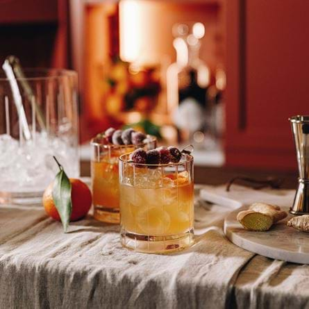 Xmas old fashioned cocktail 1