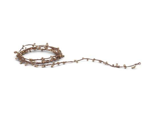 Oralie Gold Wire Bud Garland_Tight