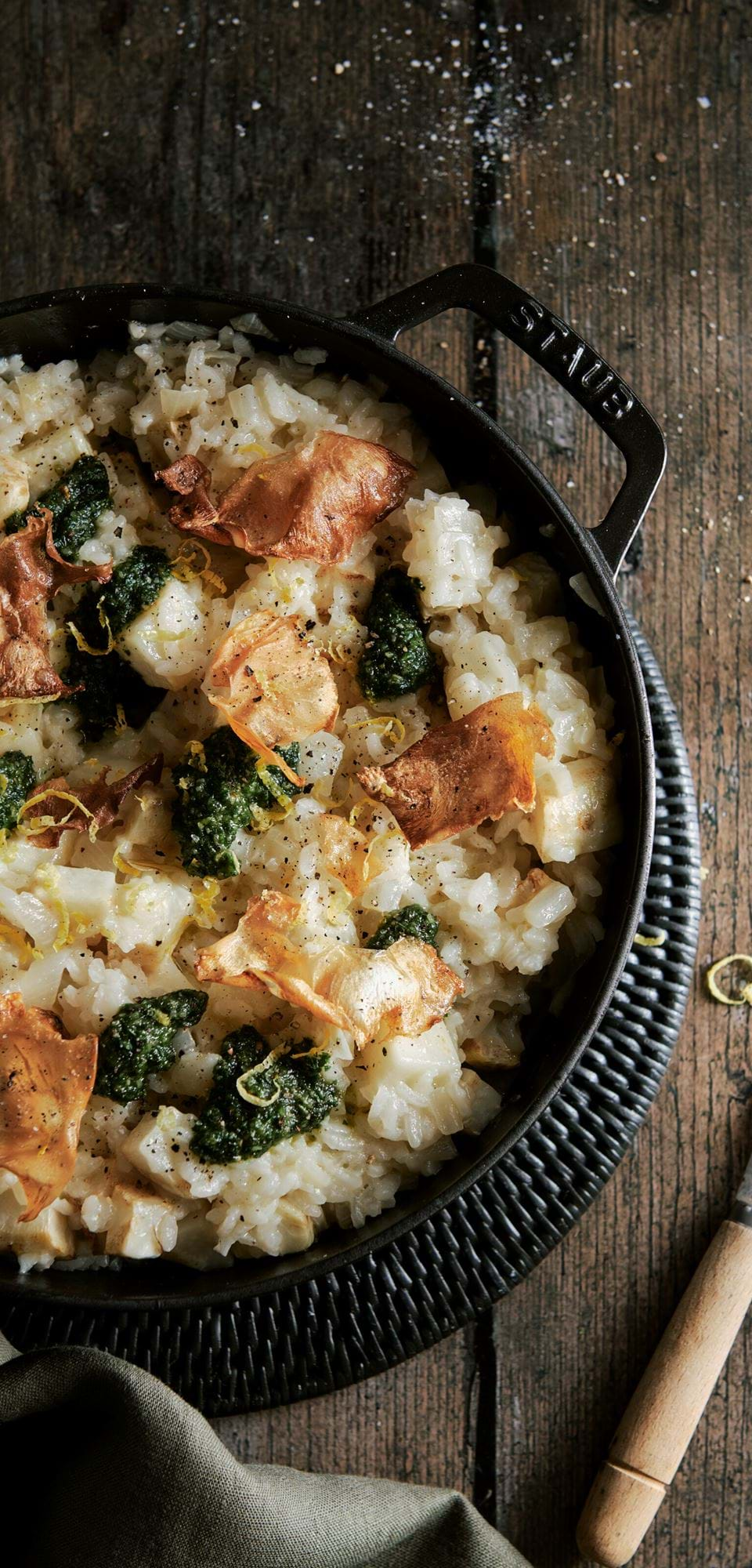 Baked celeriac risotto