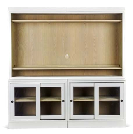 Chawton 105 double TV cabinet glazed_front_1 CC