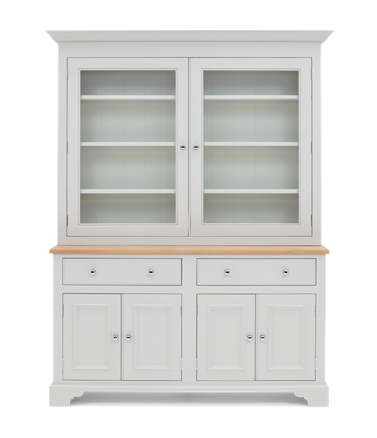 Chichester 5ft Glazed Rack Dresser Top Front