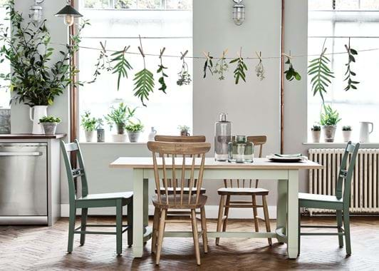 Chichester table painted Sage