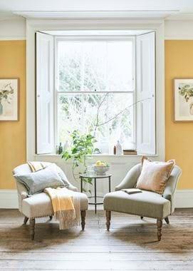 Beatrix cushion on Audrey chair