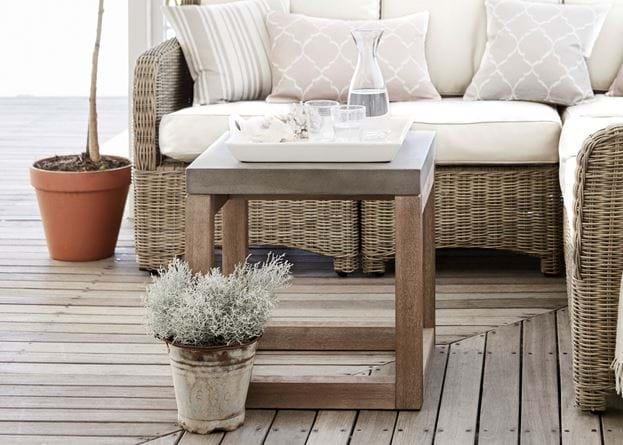 Hove Square Concrete Side Table_Garden Occasional Furniture