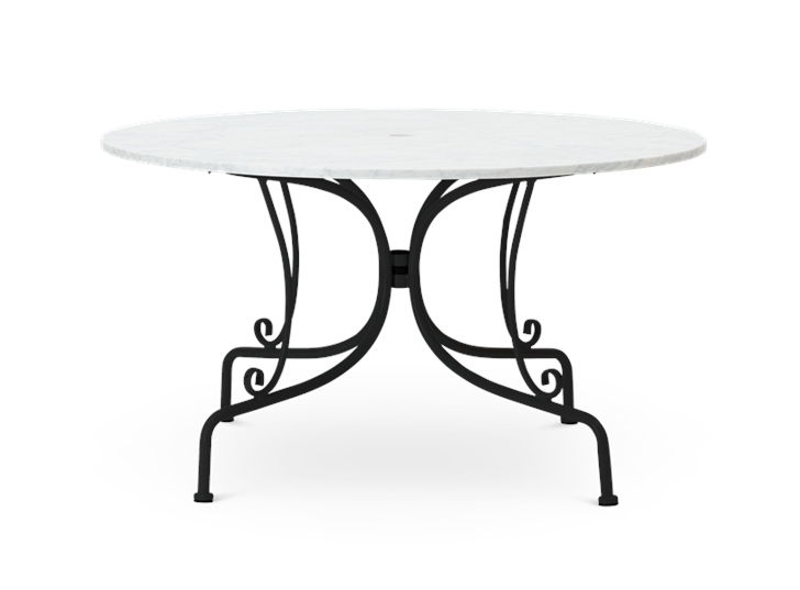 Boscombe 130 Table Black and Marble_Garden Furniture