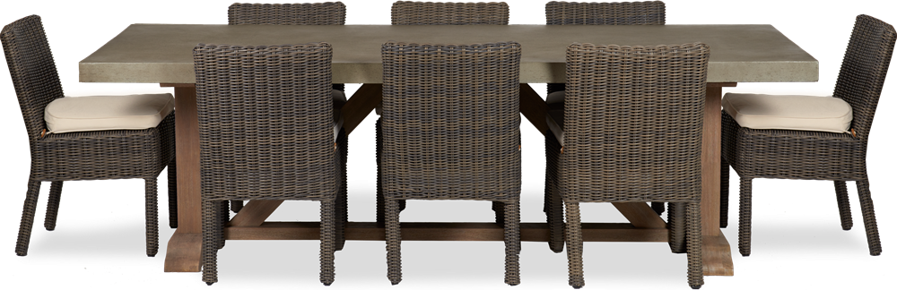 Hove 8-seater set with Toulston chairs