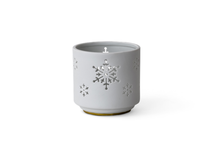 Standen snowflake tealight holder medium - front