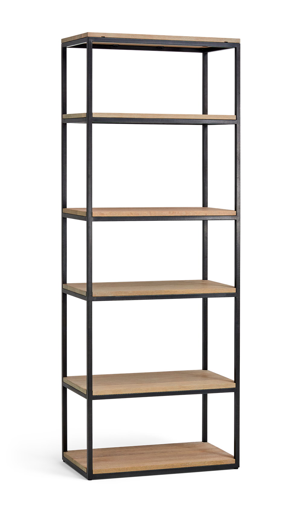 Carter 70 Bookcase Black Steel _ Dark Vintage Oak 3Q copy