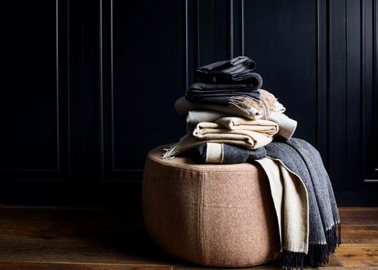 Milo stool with throw stack