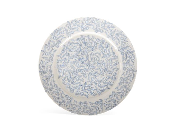 Olney dinner plate, flax blue_above
