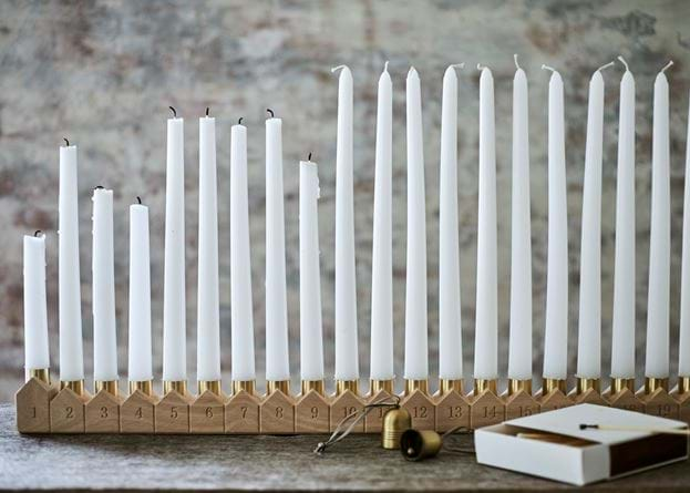 Eve advent candle holder with matches