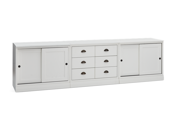 Chawton Triple Sideboard - Snow