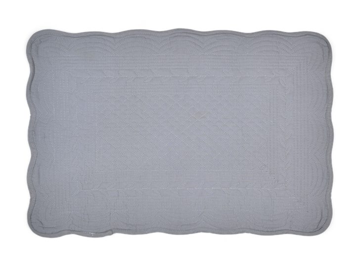 Emily Quilted Placemats Set of 6 Mist_Top