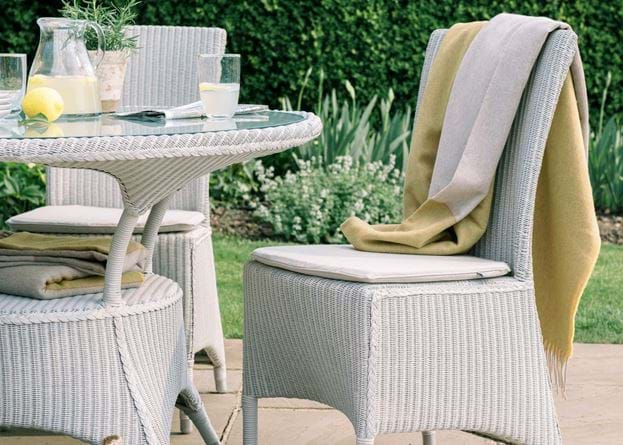Chatto dining chair on patio