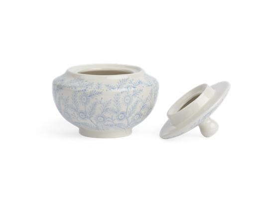 Olney Sugar Bowl - Flax Blue 2