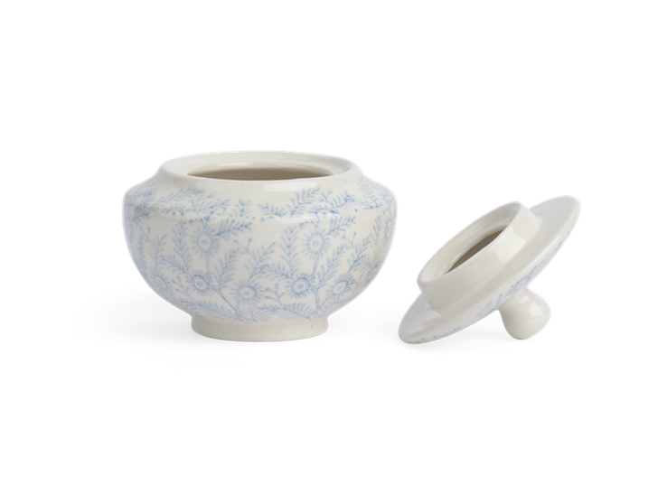 Olney Sugar Bowl - Flax Blue 2