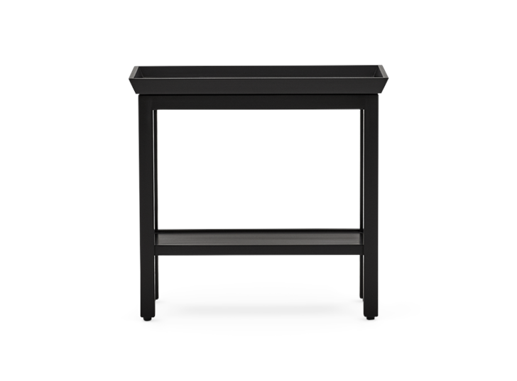 Aldwych rectangular side table Warm Black front
