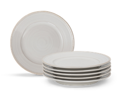 Sutton Side Plate, Off White, set of 6