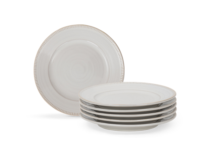 Sutton side plate, off white, 5 stack copy