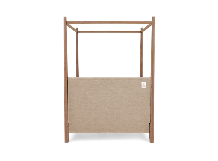 Wardley King Four Poster Bed Base Chalked Oak Holkam Sand Back