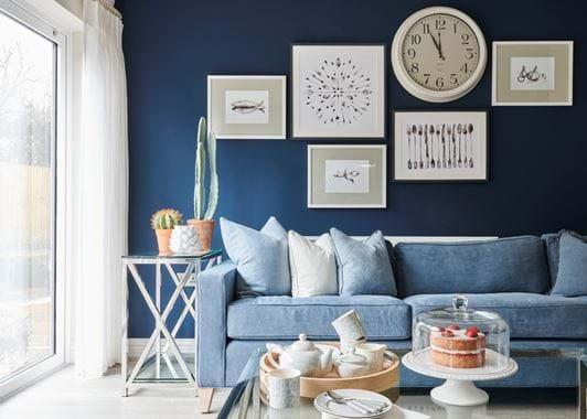 Olney Teapot - Flax Blue