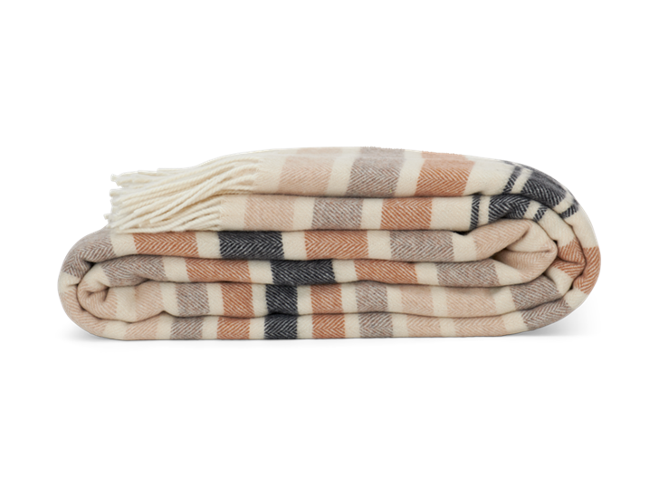 Castlefield Stripe Throw Mustard_Side