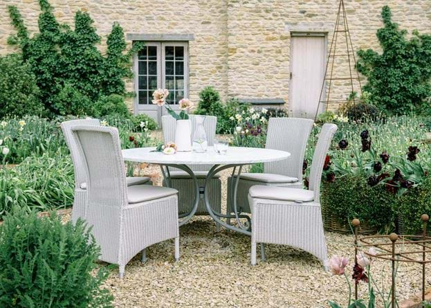 Chatto dining chairs at table