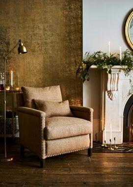 Grace Marmalade Harris Tweed on Caspar armchair