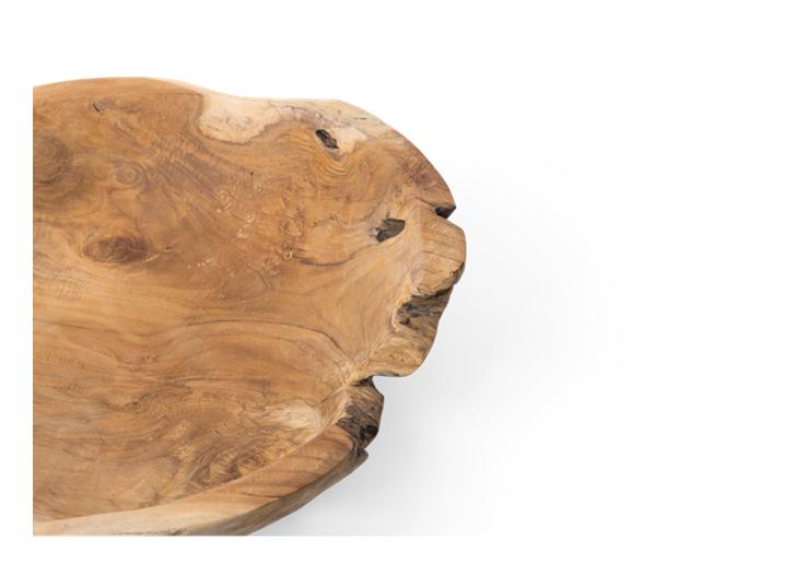 Stanton teak round bowl, Large, rim