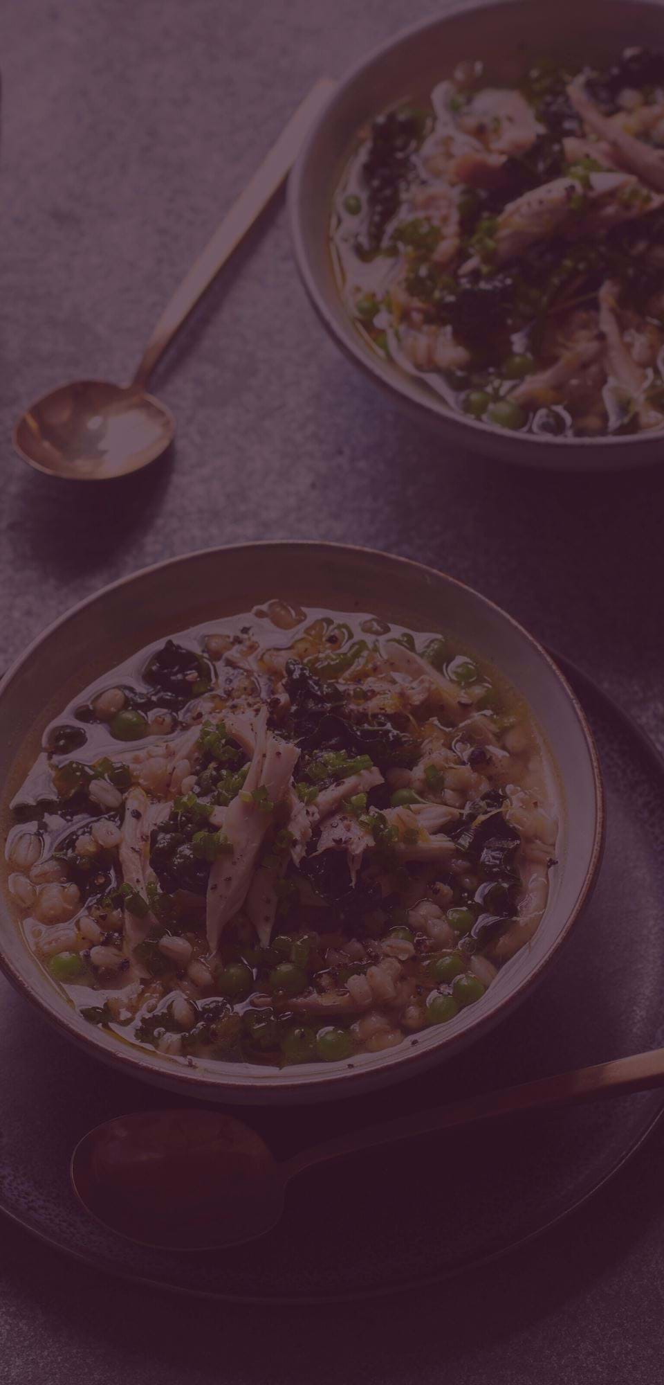 Large-Chicken & pearl barley soup Clove Overlay