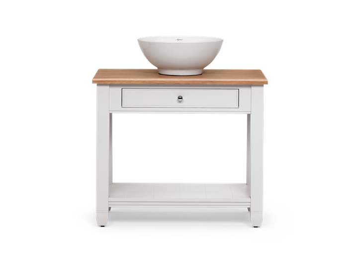 Chichester 850 Oak Countertop Washstand -Shell-Shell Front
