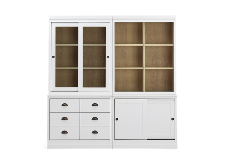Chawton Low Double Dresser - Snow