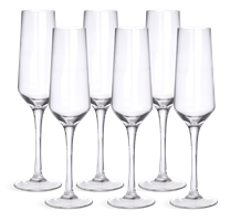 Hoxton Champagne Flutes, set of 6