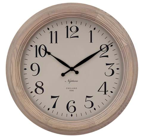 Harrison Wall Clock 435mm_Seasoned Oak