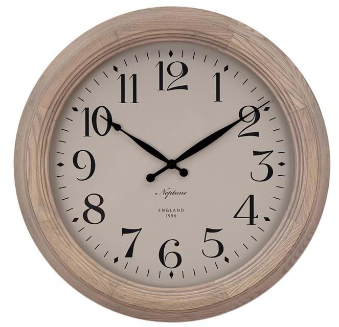 Harrison Wall Clock 435mm_Seasoned Oak