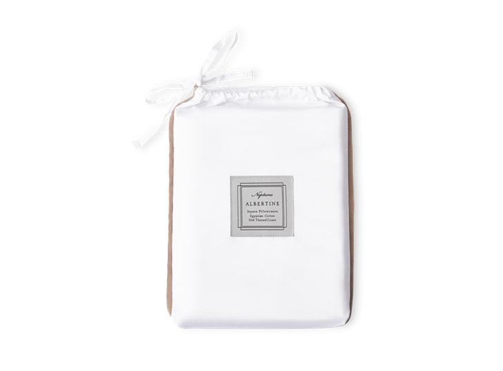 Albertine Pillowcase Peat Square_Front