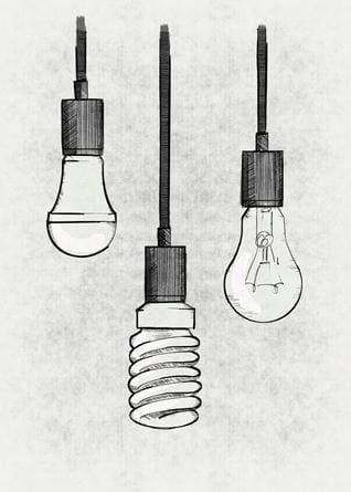 Types of light bulbs_Illustration