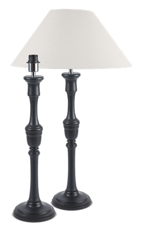 Fitzroy Black Lamp Stand & Shade