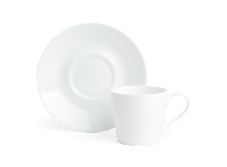 Fenton Espresso Cup and Saucer Set of 6 White_Top