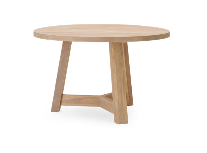 Arundel 120 Round Table Natural Oak_3Quarter