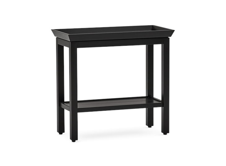 Aldwych rectangular side table Warm Black 3quarter