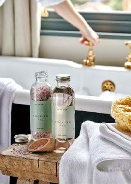 English fig bath salts and bath essence