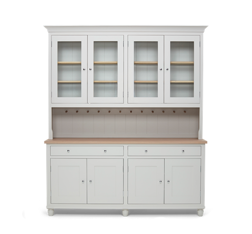 Suffolk 6ft glazed Dresser Silver Birch Front Closed ┬® Robert Smith 2020