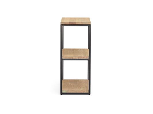 Carter 60 Fitted Shelves Black Steel _ Dark Vintage Oak Side copy