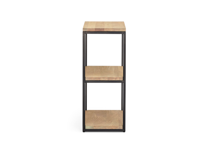Carter 60 Fitted Shelves Black Steel _ Dark Vintage Oak Side copy