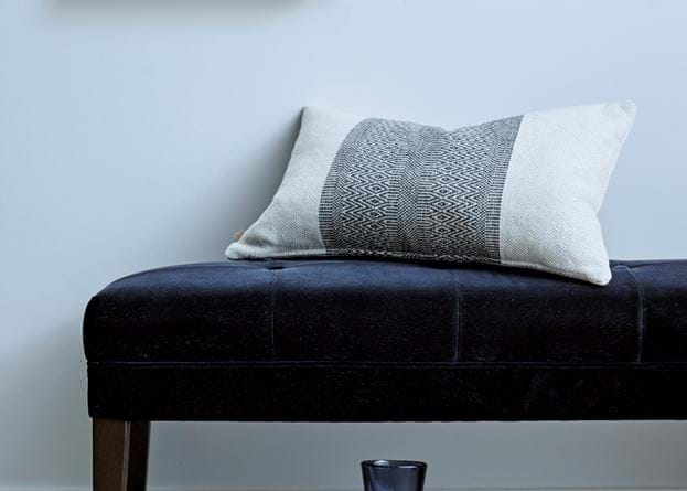 Grace scatter cushion on Rupert stool