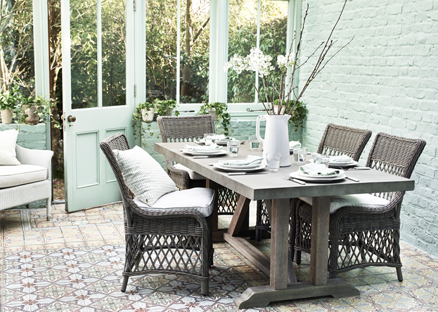 Hove Dining Table with Harrington Dining Chairs_Garden_ Conservatory