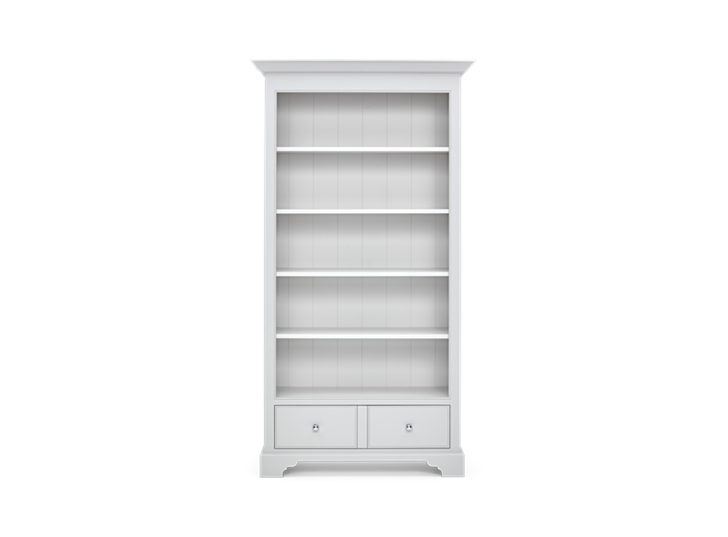 Chichester 3ft6 Full Hight Bookcase Shingle copy