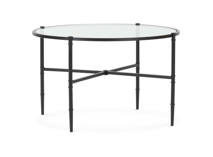 Coniston 75 Low Round Coffee Table Black Bronze_3Quarter